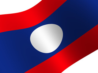 National Flag. Laos