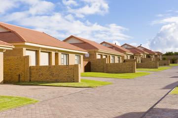 A typical suburban housing development.