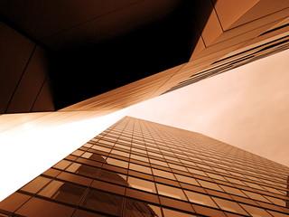 Fotobehang Aan het plafond Glasfassade