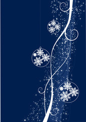 An abstract christmas background with decorations