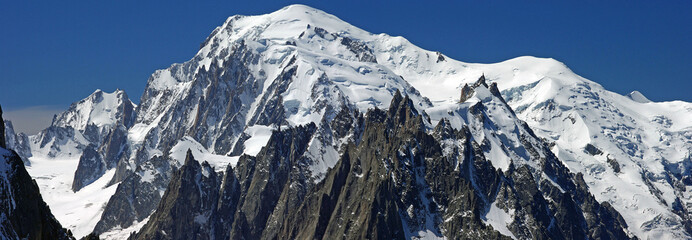 Panorama des Mont Blanc-Massivs