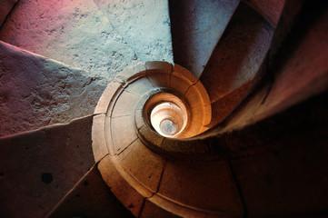 Aluminium Prints Spiral Escalier en spirale