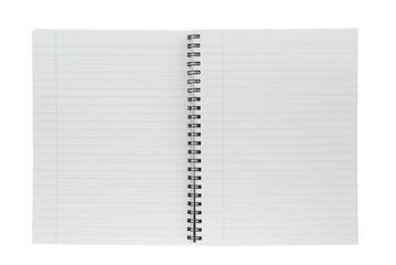 spiral notepad isolated on a white background