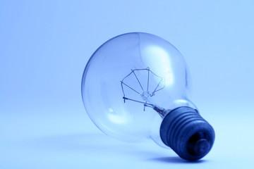 blue toning bulb alone macro