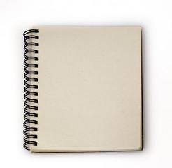 opened spiral retro notebook