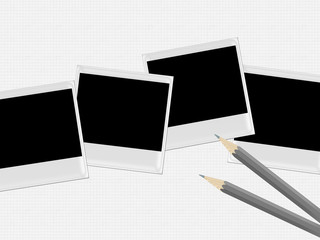 polaroids with pencils