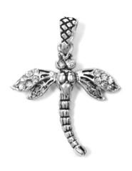dragonfly pendant on white isolated background