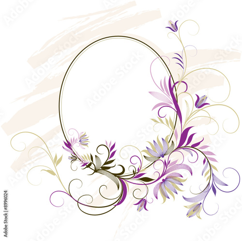 u0026quot decorative frame with floral ornament u0026quot  fichier vectoriel