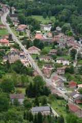 Vue aérienne de Niaux