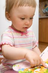 reading baby girl