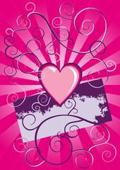 grunge heart vector background