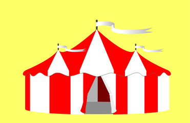 Circus Big Top Tent Illustration