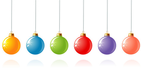 Christmas decoration in different colors / vector