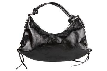 Ladies' black leather bag