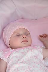 sleeping little girl on walk