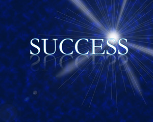 Success 3d with reflection high resolution digital