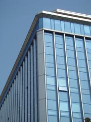 Modern city building.