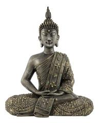 Obraz Statua Buddy na białym tle - fototapety do salonu