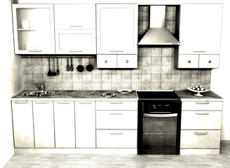 kitchen BW