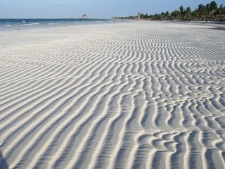 Regular sand pattern. Cayo Guillermo Island, Cuba