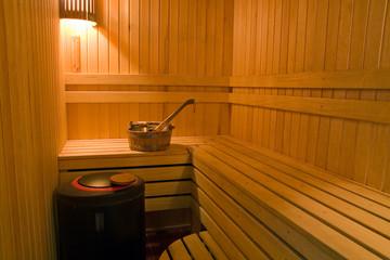 Bucket and ladle in finnish a sauna.
