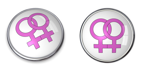 Button Two Pink Female Symbols