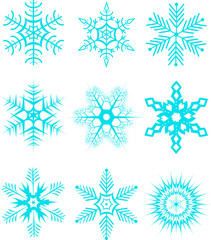 Collection of snowflakes2. Vector illustration