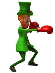 Lutin irlandais qui boxe