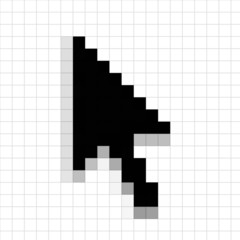 An illustration of a mouse arrow cursor