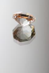 beautiful diamond image on a glass surface