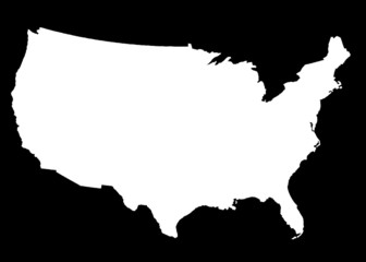 USA Map white