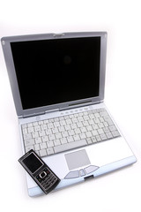 Laptop and a mobile phone