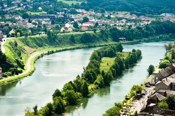 Papiers peints Bleu vert Bords de Meuse (Ardennes)