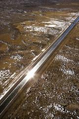 Irrigation canal through Colorado.