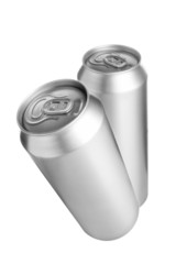 Two aluminium beer cans