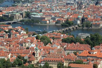 View of Prague from the Petrzhin hill