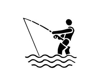 Symbolischer Angler