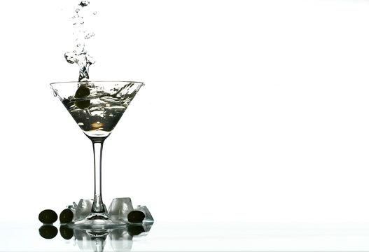 martini glass splash bar background