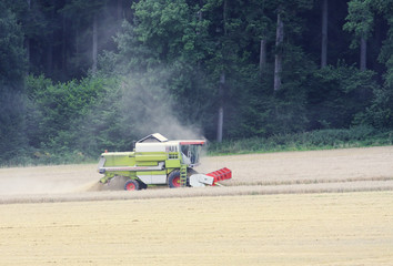 A photography of a harvester germany black forest