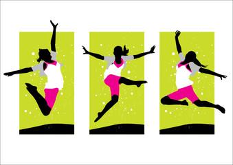 Girl Leaping