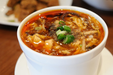 Chinese style hot and sour soup