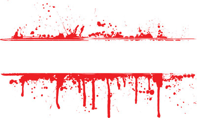 Blood splatter border