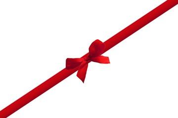 Geschenkband mit Schleife diagonal