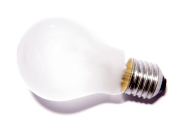 Light-bulb on white