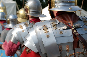 Foto op Canvas Ridders Armures romaines