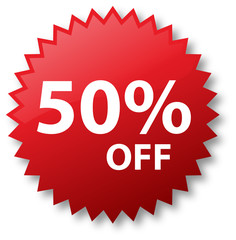 Sale - Fifty Percent Off
