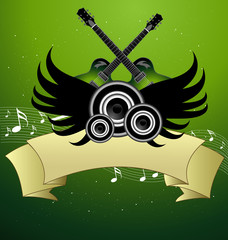 An awesome music poster design vector