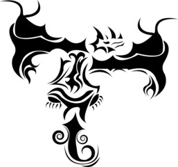 A beautiful dragon tattoo design