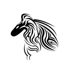 A beautiful horse tattoo design
