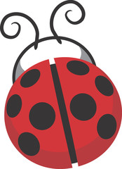 LadyBug Clip Art Graphic Design Image Illustration